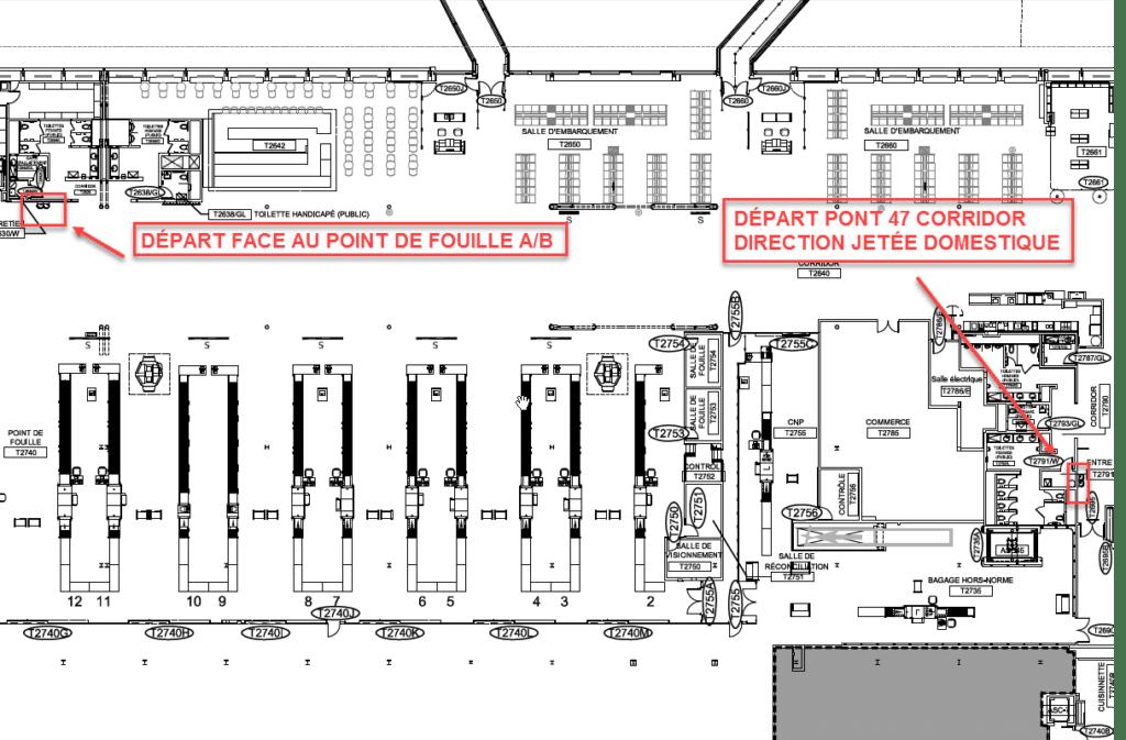 Départ-point de fouille A-B et Pont 47