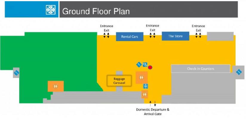 Hamilton Airport Ground Floor