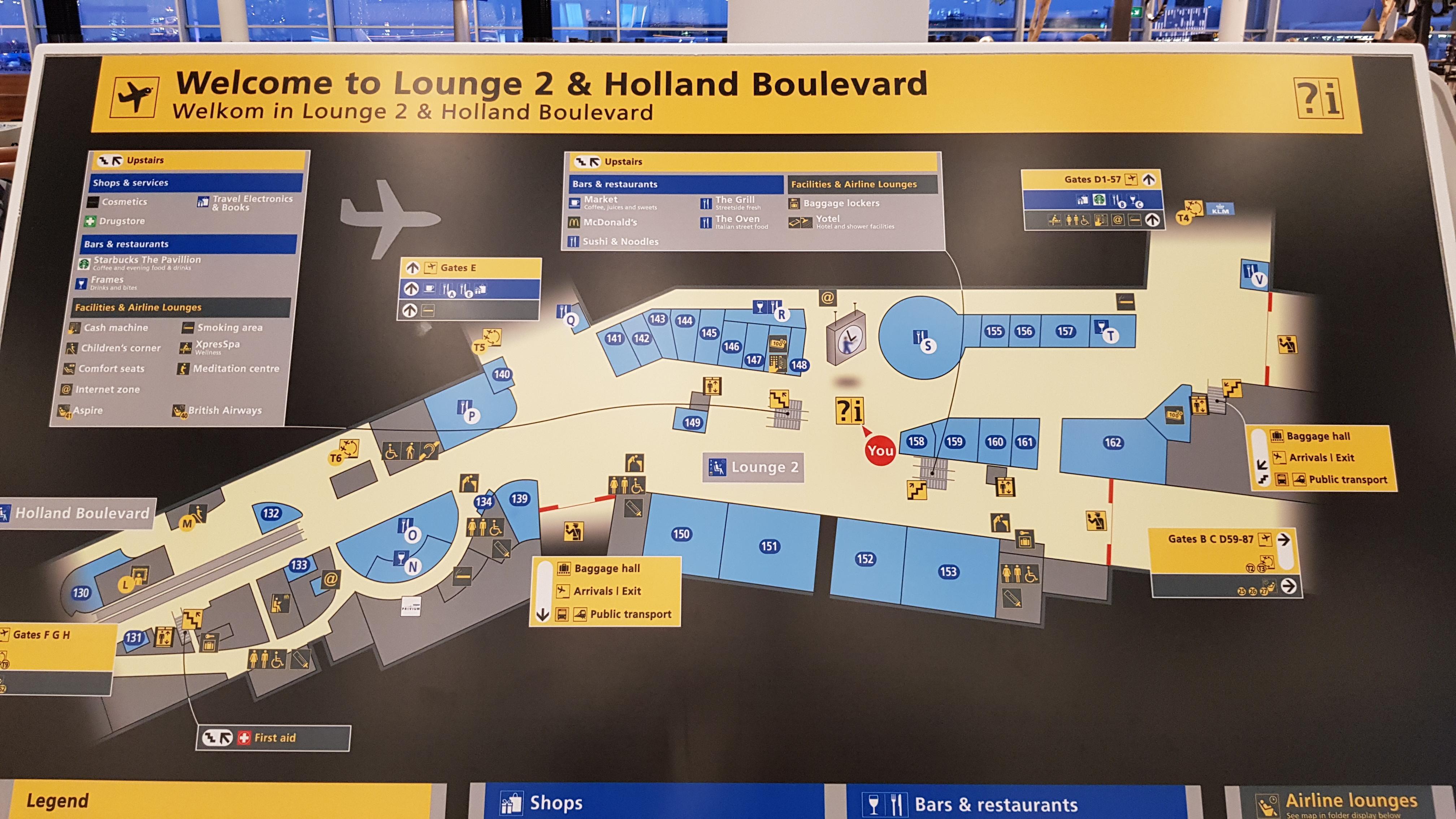 Schiphol departures 2 map