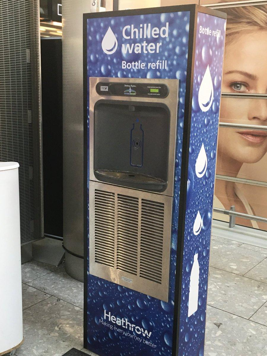 Bottle filling station at Heathrow Airport